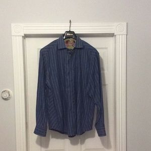 Robert Graham Flip Cuffs Large Shirt Cool Pattern